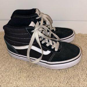 Vans classic high top black sneakers kids unisex 1